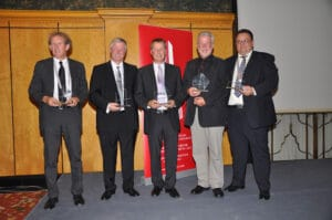 Die Verleihung für den Europäischen Brückenbaupreis für Fuß und Radwegbrücken