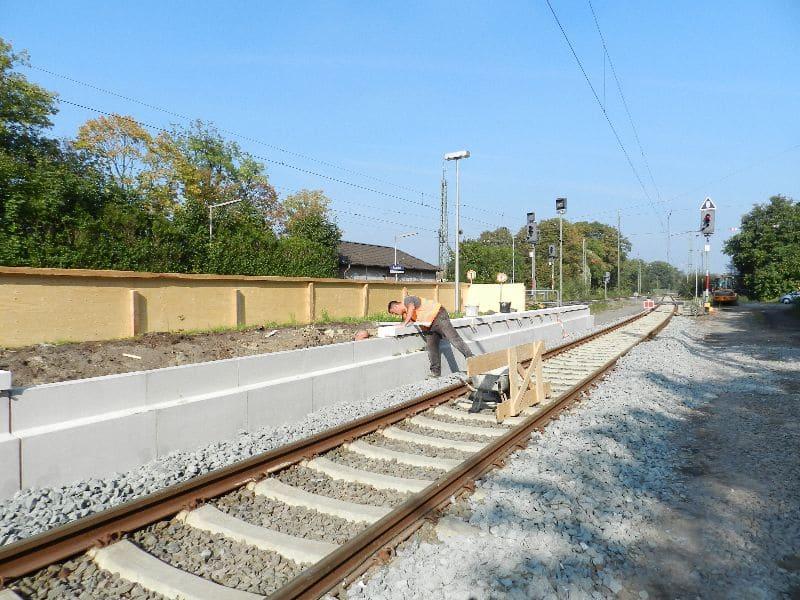Haltepunkt Nottuln-Appelhülsen, Bahnsteige + Treppenanlage