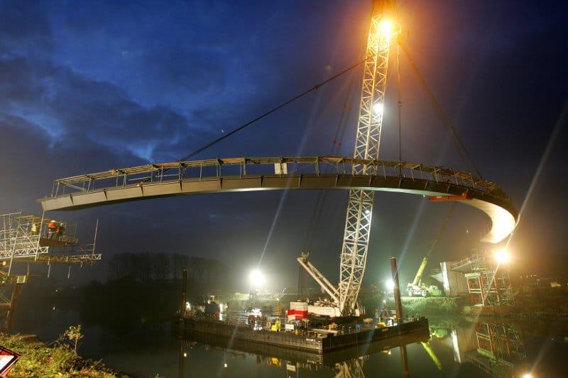 Grimbergbrücke ü. den RHK in Gelsenkirchen Auszeichnung ECCS AWARD