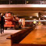 Eisenbahnüberführung Leuthardstr. in Dortmund. Verschub mit Rotation
